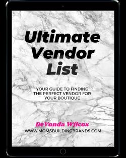 Vendor list 💰🤑