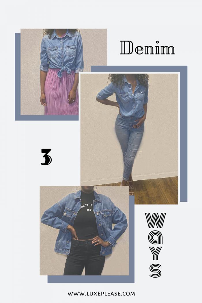 3 ways to wear denim