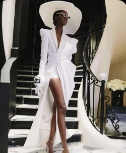 White High Fashion Desifner extravagant Piece