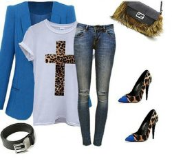 Cheetah & Royal Blue