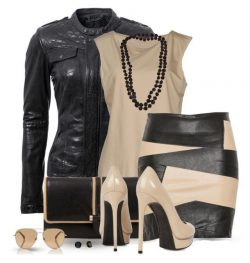 Black and tan leather