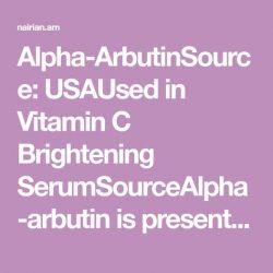Alpha-Arbutin