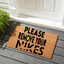 Please remove your Nikes doormat