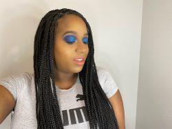 Megan Tatiana-All blue everything makeup tutorial