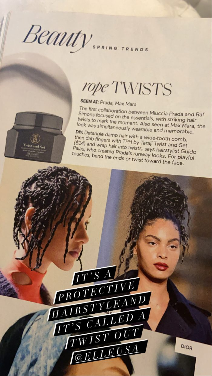 This is a protective hairstyle called a twist out not rope twists. It isn't a trend black women  ...