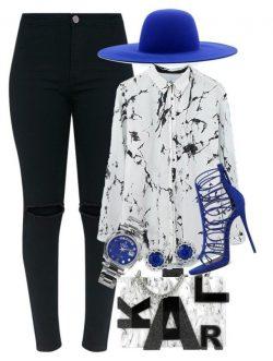 Royal Blue, Black & White