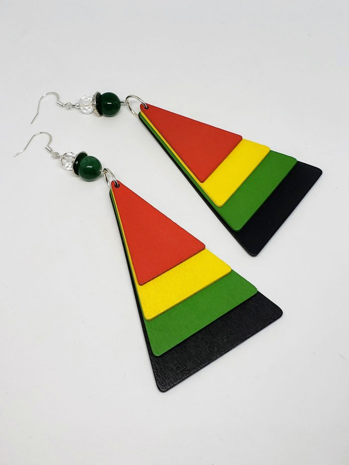 Wooden Triangle Motherland Earrings