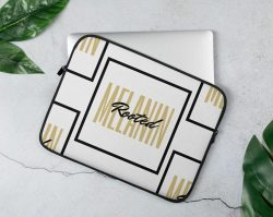 Rooted in Melanin laptop cover