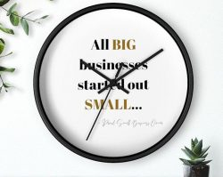Small business Big business wall clock