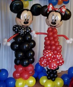 Mickey Mouse and Minnie Mouse Balloon Columns