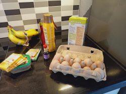 Bananencake in the making