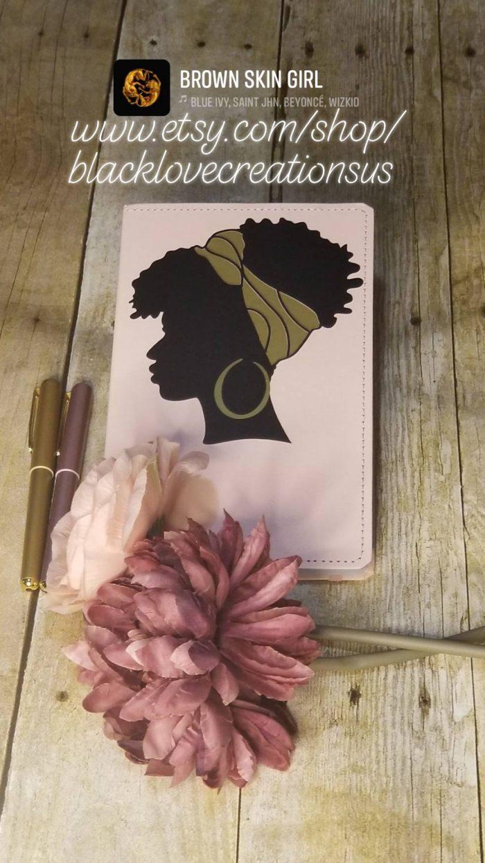 Black Beauty Journal | Black Women Journal| Custom Designed Journal