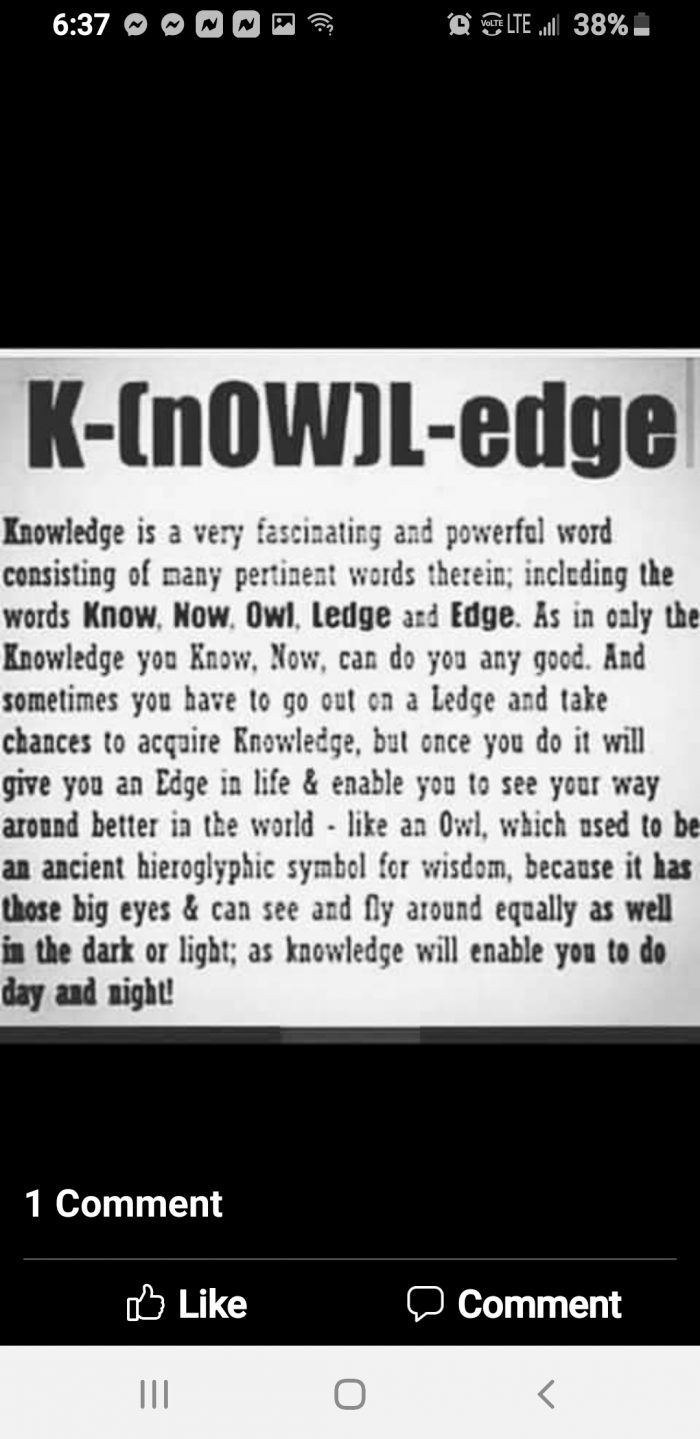 Knowledgeofself