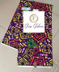 African Print Fabric Purple