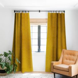 African Diamond Yellow Ochre blackout drapes