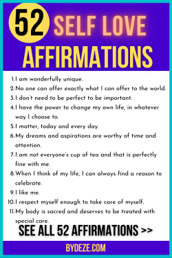 Skyrocket your CONFIDENCE with these affirmations about self love