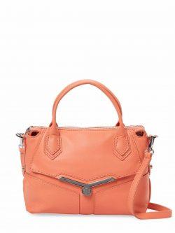 BOTKIER Women's Valentina Mini Leather cross body bag/Satchel, Grapefruit