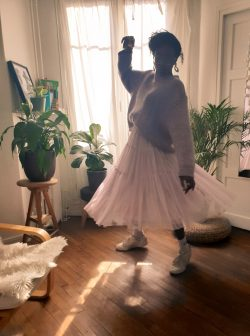 Tutu outfit with white sneakers