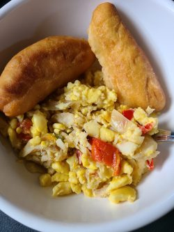 Akee and Salt Fish with Dunplings