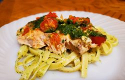 Salmon with Basil and Spinach Pesto