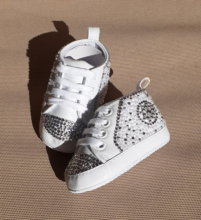 Custom Bling Crib Shoes