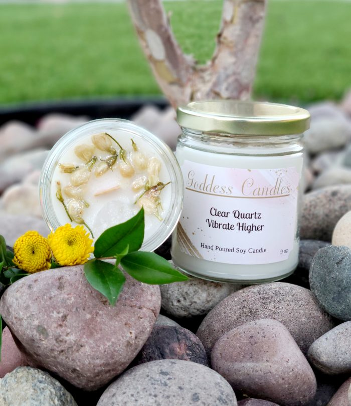 Clear Quartz Goddess Candle