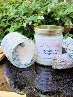 Palo Santo and Sage Goddess candle