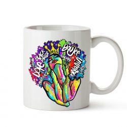 colorful Afro mug