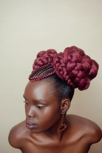 Burgundy Deity Braids