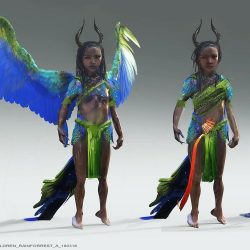 Afro-Brazilian Fae represent 💚💛💙