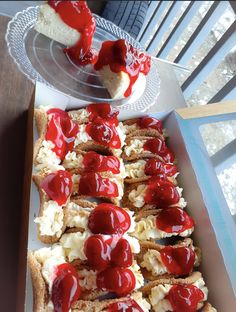 strawberry cheesecake tacos