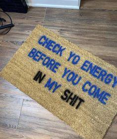 trendy door mats