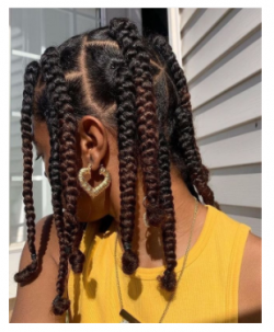 natural hairstyle (Braids)