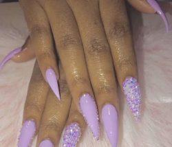 lavender purple nails
