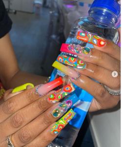 froot loop inspired nails