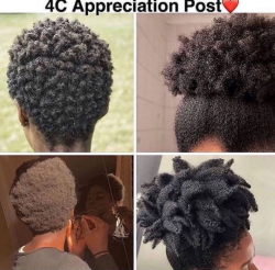 natural 4C hair goals