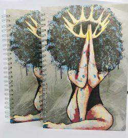 Praying Queen A5 notebook, dot journal, daily journal, grid bullet journal, college rule noteboo ...