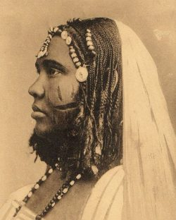 Portrait of a Nubian lady from Sudan taken in the late 19th Century. A European traveller, John  ...