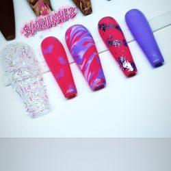 💜Pink Purple press ons 💜