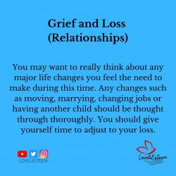 Grief and Loss (Relationships)