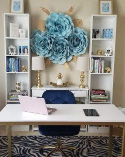 Flower Wall Home Office Decor