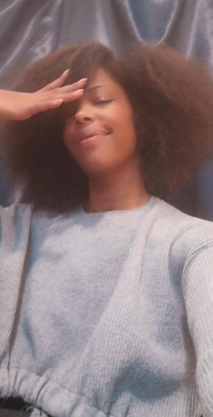 combed out afro