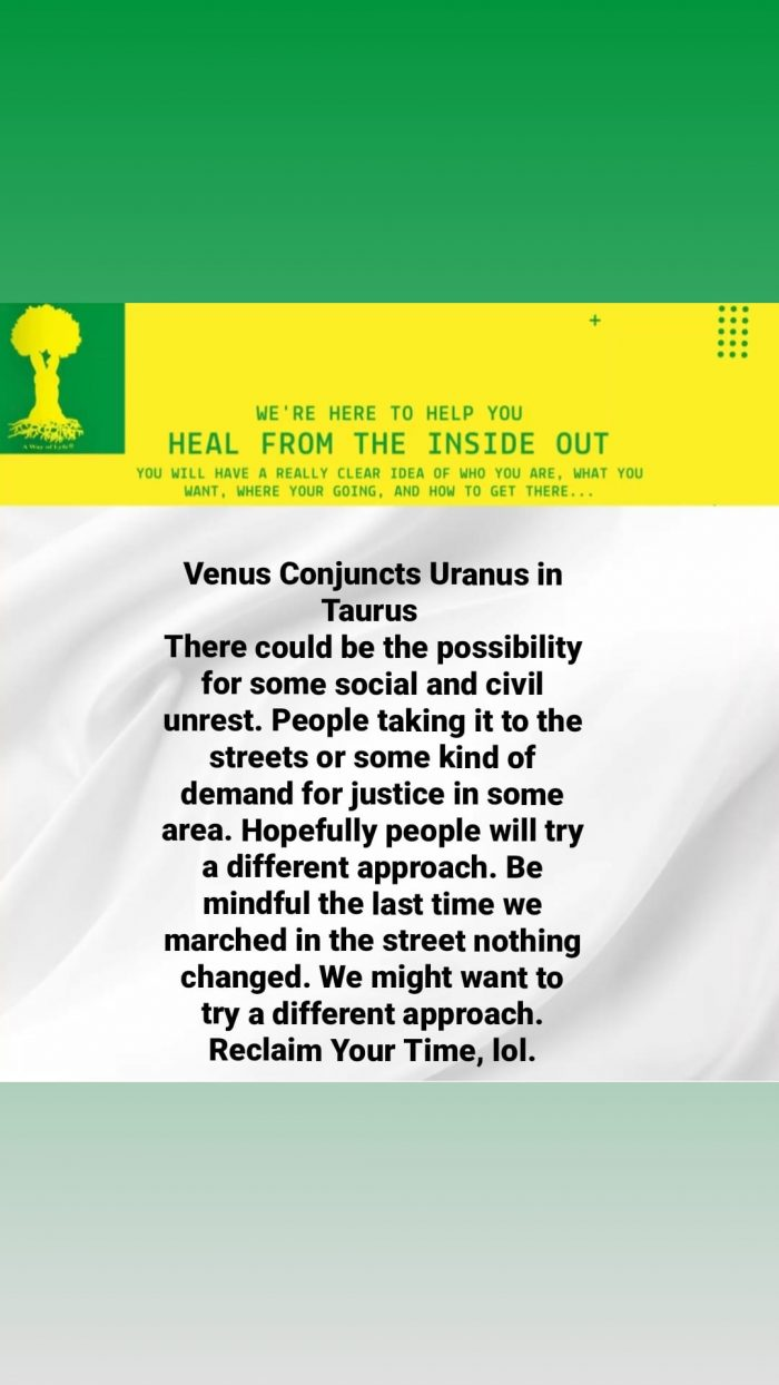 Venus conjunct Uranus