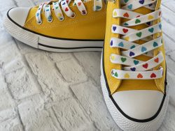 Rainbow Heart Shoelaces for Sneakers