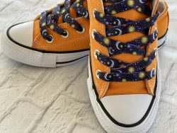 Stars and Moon Shoelaces for sneakers