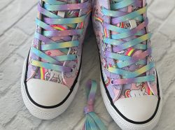 Unicorn tye die shoelaces for sneakers