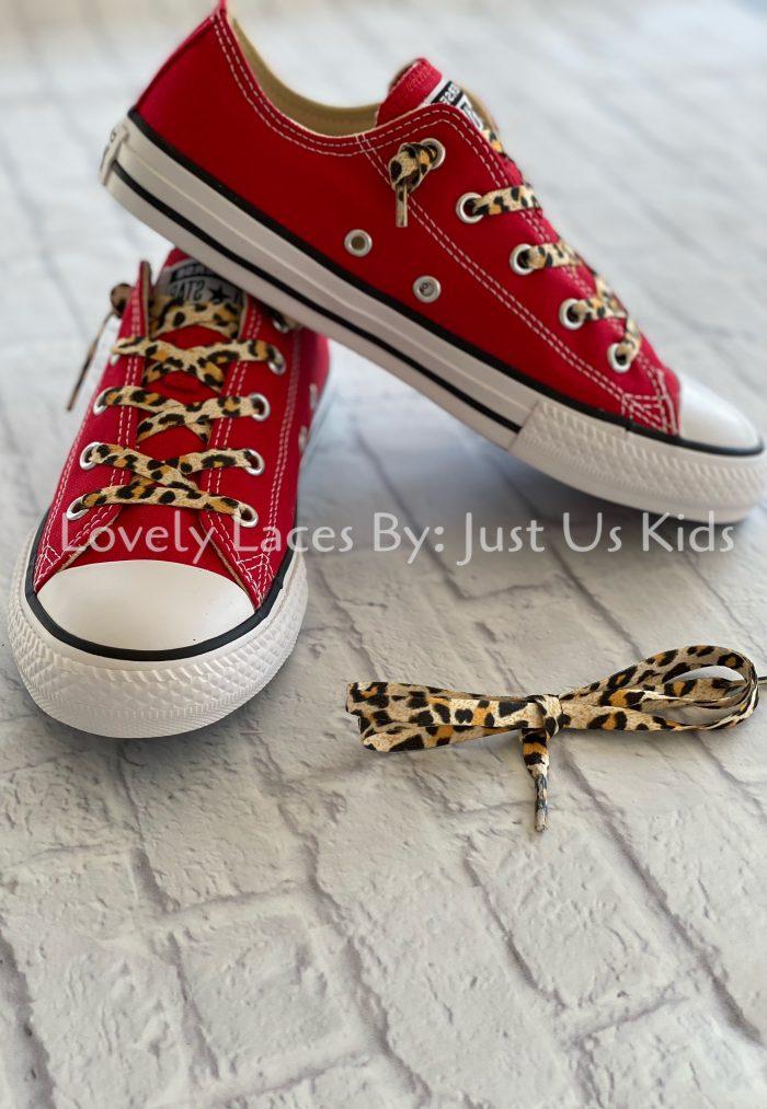 Leopard Print Shoelaces