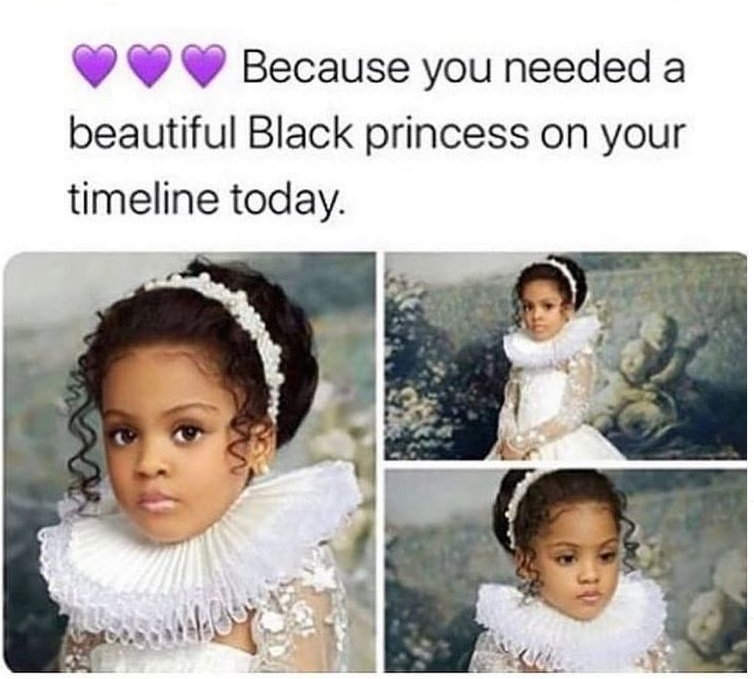 Black Princess. She is in her natural element.
