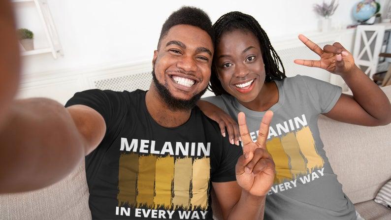 Melanin Stripes unisex, soft tees