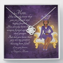 Necklace And Message Card For Mom on Mother's Day – You Already Know